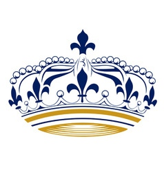 Retro king crown vector