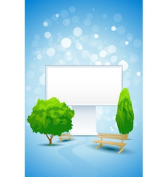 Empty billboard vector