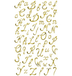 Gold alphabet with diamonds and gems letters yz vector
