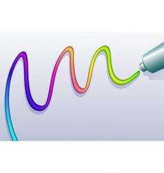 Paint line vector