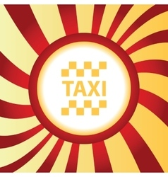 Taxi abstract icon vector