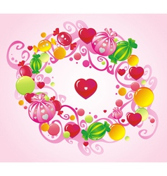 Curls and sweets vector