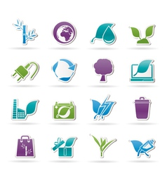 Environment and conservation icons vector