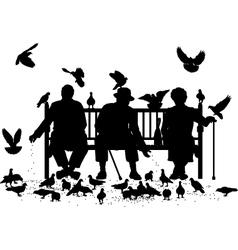 Pigeon feeders vector