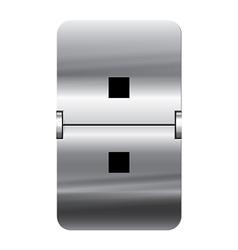 Alphabet silver flipboard letters colon vector