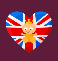 English royal baby vector