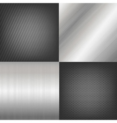 Set of metal texture background vector