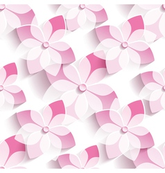 Background seamless pattern with pink sakura vector
