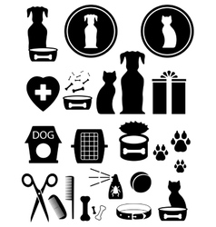 Set goods for pet vector