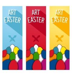 Art easter concept flyer vector