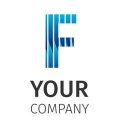Abstract blue logo f vector