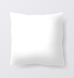Blank square pillow vector