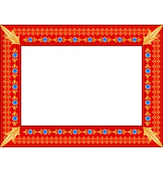Royal photo frame vector