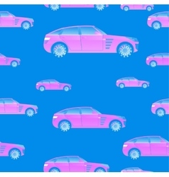 Seamless pattern with cars for and vector