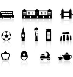 English culture icons vector