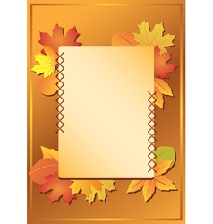 Frame with autumn leaves vector