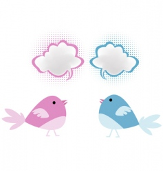 Bird chatter vector