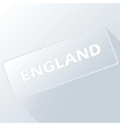 New england unique button vector