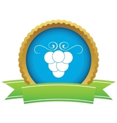 Grape certificate icon vector