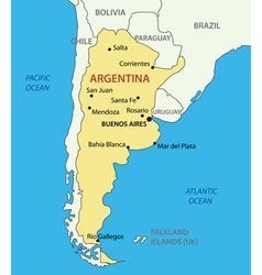 Argentine republic argentina - map vector