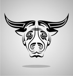 Buffalo head tribal vector