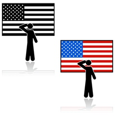 United states salute vector