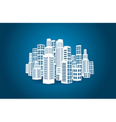 City with buildings and skyscrapers vector