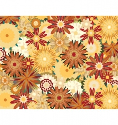 Toned flowers vector
