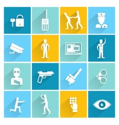 Security guard flat set vector