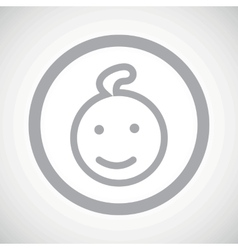Grey child sign icon vector