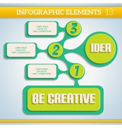 Paper info graphic colorful scheme with steps vector