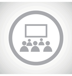 Grey audience sign icon vector