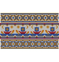 Old ethnic ornament vector