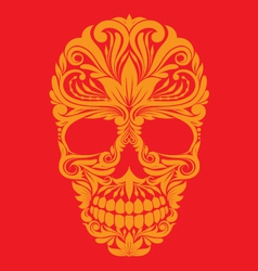 Skull ornamental vector