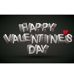 Happy valentines day phrase vector