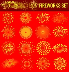 Fireworks for chinese new year vector