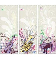 Musical backgrounds vector
