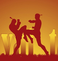 With the image of east martial artists vector