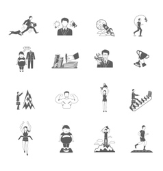 Motivation icons set vector