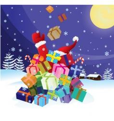 Santa claus crash by christmas vector