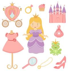 Princess set vector