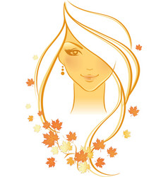 Women autumn face vector