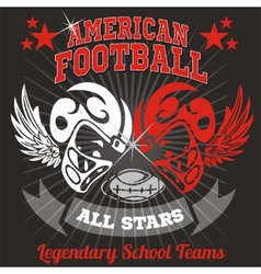 American football - vintage print for boy vector