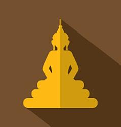 Flat design buddha icon vector