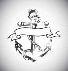 Anchor icon tattoo logo grunge design floral hand vector
