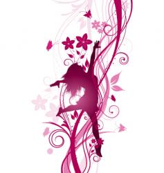 Floral female vector