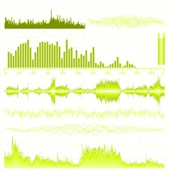 Sound waves set vector