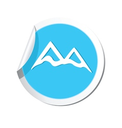 Mountain icon round blue vector