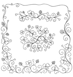 Set of spring design elements vector