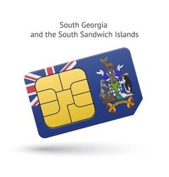 South georgia and sandwich islands phone sim card vector